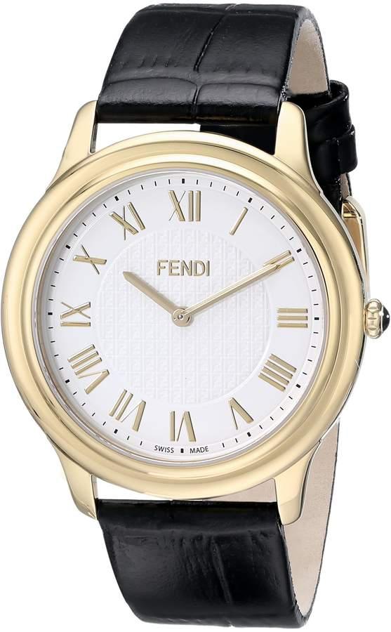 Fendi Men's F250414011 Classico Analog Display Quartz Black Watch