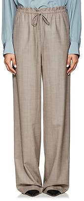 The Row Women's JR Pinstriped Wool Wide-Leg Pants