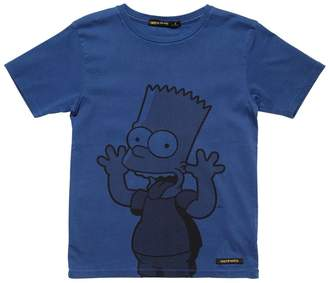 Finger In The Nose Bart Simpson Print Cotton Jersey T-Shirt