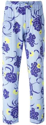P.A.R.O.S.H. floral print trousers