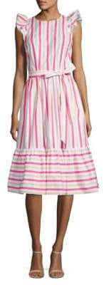 Kate Spade Stripe Cotton Poplin Midi Dress