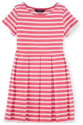 Ralph Lauren Striped Fit-And-Flare Dress (M 8-10, )