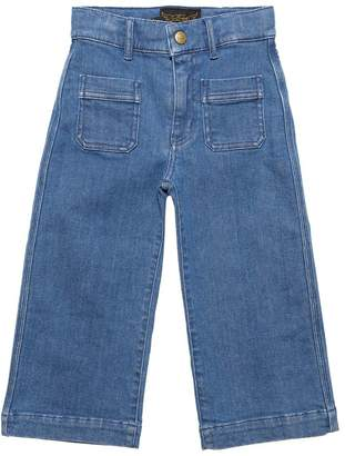 Finger In The Nose Wide Leg Stretch Cotton Denim Jeans