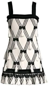 Alexis Bijou Knit Tassel A-Line Mini Dress