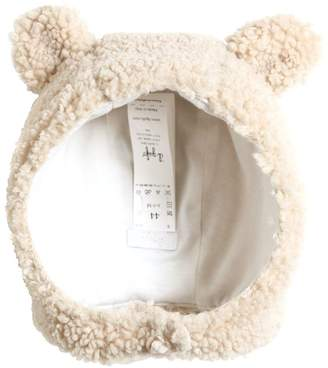 Il Gufo Faux Shearling & Cotton Jersey Hat