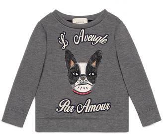 Children's cotton sweatshirt with dog $345 thestylecure.com