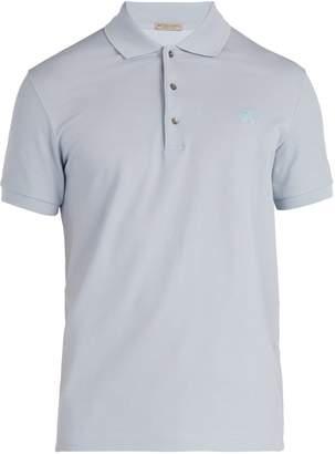 Bottega Veneta Logo-embroidered cotton polo shirt