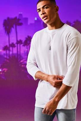 boohoo Loose Fit 3/4 Sleeve T-Shirt