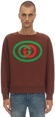Gucci Printed Cotton Interlock Sweatshirt