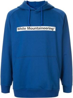 White Mountaineering logo patch drawstring hoodie