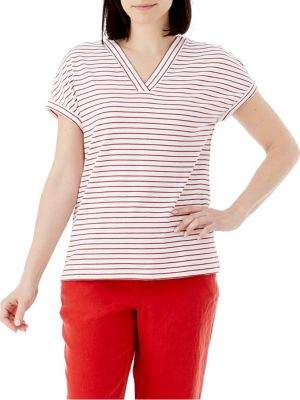 Olsen Boho Love Striped V-Neck Tee