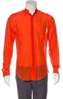 Giorgio Armani Silk-Blend Button-Up Shirt