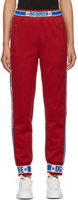 Dolce & Gabbana Red Queen Track Pants