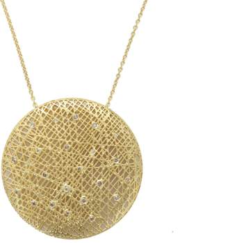 Yossi Harari Large Round Lace Pendant Necklace