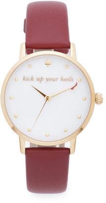 Kate Spade New York Metro Kick Up Your Heels Watch $195 thestylecure.com