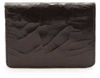 Marc Marmel Cracked Leather Passport Holder - Mens - Black