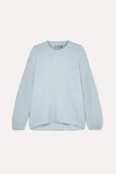 Oversized Knitted Sweater - Blue