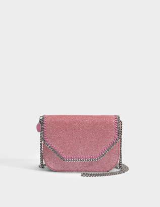 Stella McCartney Glitter Mini Tote Falabella Box in Antique Rose Eco Fabric