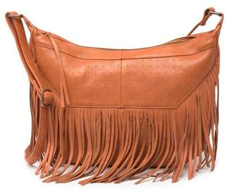 Day & Mood Parker Leather Studded Fringe Hobo Bag
