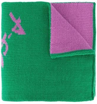 Tibi double jacquard scarf