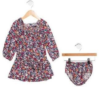 Ralph Lauren Girls' Floral Print Two-Piece Dress Set