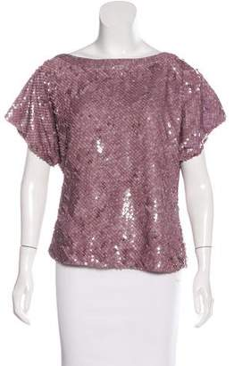 Alice + Olivia Silk Embellished Top