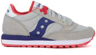 Saucony Jazz Grey And Purple Suede And Nylon Sneaker