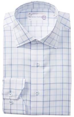 Lorenzo Uomo Windowpane Box Check Traditional Fit Dress Shirt