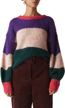 Whistles Stripe Knit Pullover