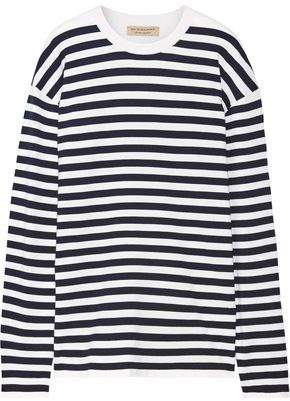 Burberry Striped Wool-Blend Top