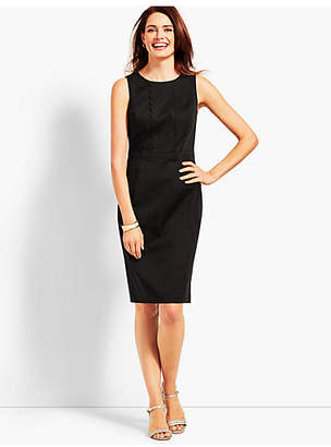 Talbots Textured Sateen Sheath Dress