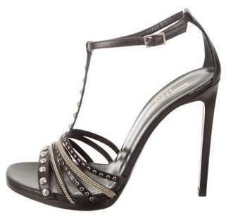 Saint Laurent Embellished T-Strap Sandals