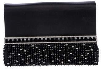 Valentino Bead Embellished Satin Evening Bag
