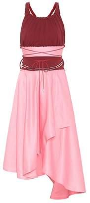 J.W.Anderson Linen-blend midi dress