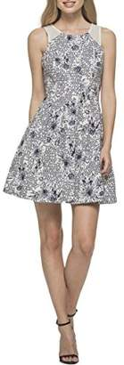 GUESS Women's Printed Cotton Fit and Flare Dress