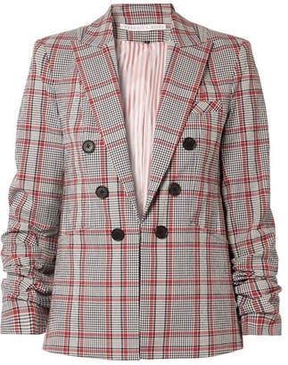 Veronica Beard Caldwell Dickey Checked Cotton-blend Blazer - Red