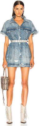 GRLFRND Wilder Oversized Trucker Vest Dress
