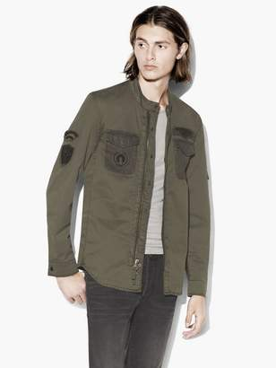 John Varvatos Military Shirt Jacket