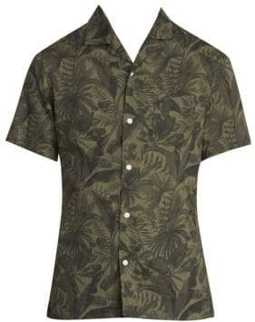 Officine Generale Dario Jungle-Print Button-Down Shirt