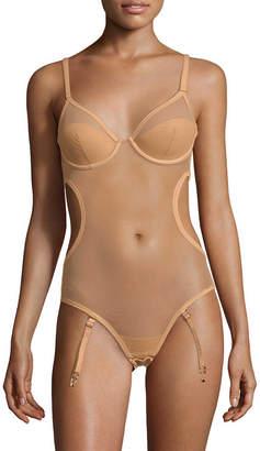 La Perla Mesh Cut-Out Bodysuit