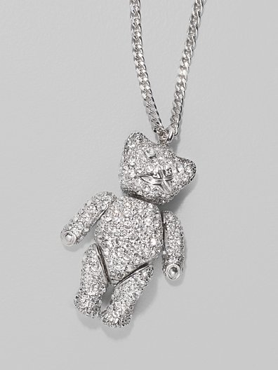 Dior Teddy Bear Necklace/White