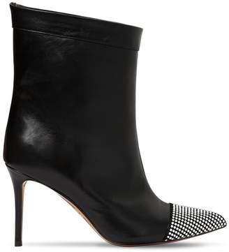Alexandre Vauthier 110mm Cha Cha Swarovski Leather Boots