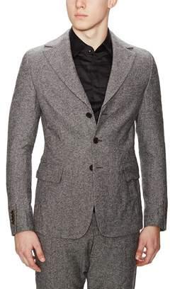 Diesel Black Gold Jejacq-semi Wool Blend Tweed Jacket