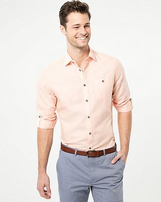 Le Château Linen Blend Athletic Fit Shirt