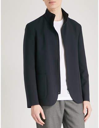 HUGO Funnel neck woven jacket