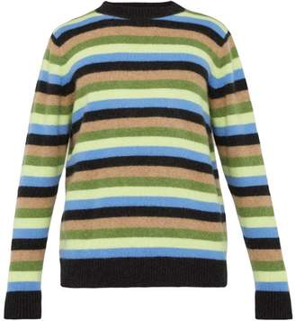 The Elder Statesman Inch Striped Cashmere Sweater - Mens - Blue Multi