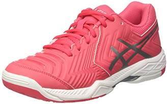Asics Women's Gel-Game 6 Tennis Shoes, (Rouge Red/Silver/White), 39 EU