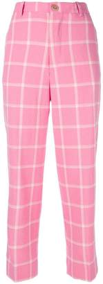 Cavallini Erika high-waist check trousers