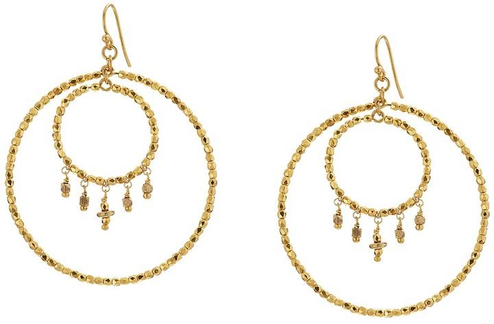 Chan LuuChan Luu Crystal Double Hoop Earrings