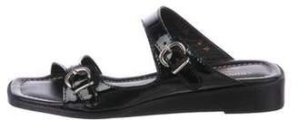 Donald J Pliner Patent Leather Square-Toe Sandals